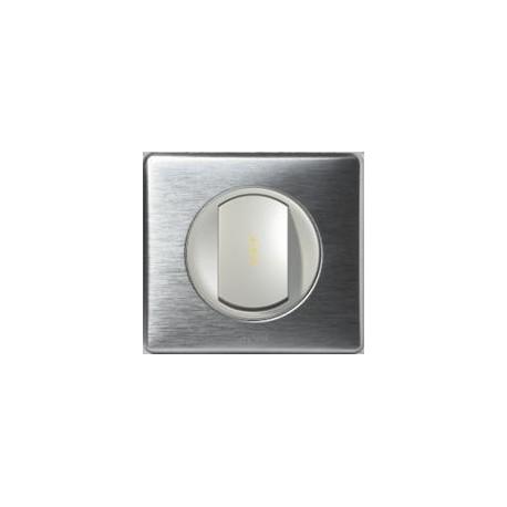 Legrand Céliane - Interrupteur Va et Vient à Voyant lumineux - Ensemble Aluminium complet - Réf: A018