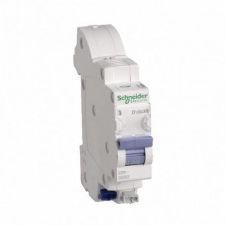 Schneider - Duoline Xe, Disjoncteur D'Clic 1P+N 2A, Courbe C, Embrochable - Réf : 16724