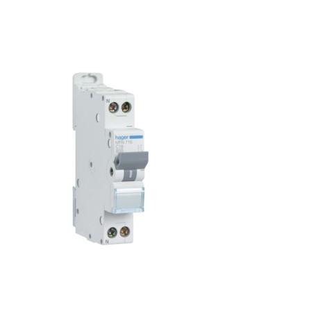 Hager - Disjoncteur 1P+N 3kA C 10A à vis - Réf : MFN710