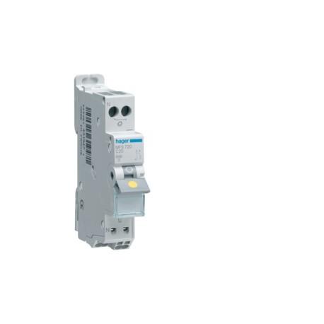 Hager - Disjoncteur 1P+N 3kA C 2A Auto - Réf : MFS702