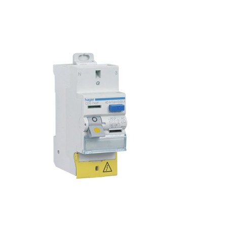 Hager - Interrupteur différentiel 40A 30mA type A Auto - Réf : CDS743F
