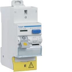 Hager - Interrupteur différentiel 63A 30mA type A Auto - Réf : CDS765F