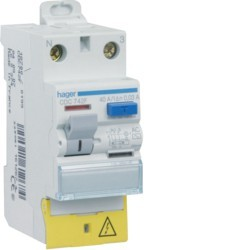 Hager - Interrupteur différentiel 63A 30mA type AC - Réf: CDC764F