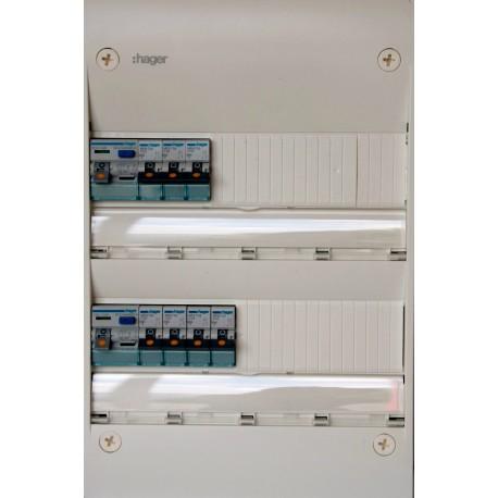 Hager - Tableau Pré-câblé - Gamma 13 modules 2 Rangées - Réf: HAG13201