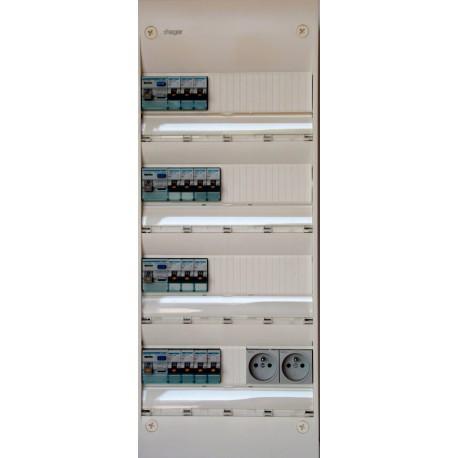 Hager - Tableau Pré-câblé - Gamma 13 modules 4 Rangées - Réf: HAG13401