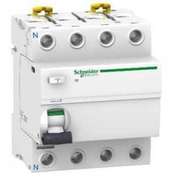 Interrupteur différentiel tétrapolaire 40A 30mA courbe AC Schneider ref: A9R11440