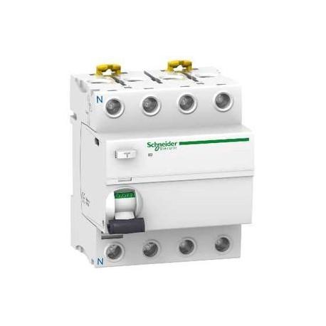Interrupteur différentiel tétrapolaire 63A 30mA courbe AC Schneider ref: A9R11463