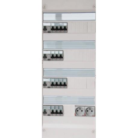 Legrand - Tableau Pré-câblé - Drivia 13 modules 4 Rangées - Réf: LEG13402