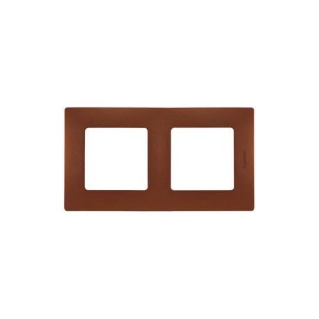 Legrand Niloé - Plaque 2 postes Cacao - Réf : 96718
