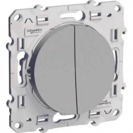 Schneider Odace - Interrupteur Va et Vient + Bouton Poussoir - Réf : S530285