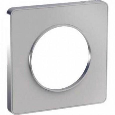 Schneider - Odace Touch, Plaque Alu 1 Poste - Réf : S530802