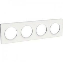 Schneider - Odace Touch, Plaque Blanc 4 Postes Horiz. Ou Vert. Entraxe 71Mm - Réf : S520808