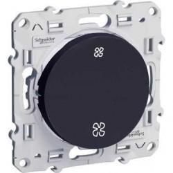 Schneider Odace - Interrupteur Vmc Anthracite - Sans Position Arrêt - À Vis - Réf : S540233