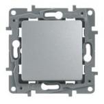 Legrand - Interrupteur ou va-et-vient 10 AX - Argent - à composer - Réf : 096660
