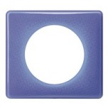 Legrand - Plaque 1P Violet 90S - Réf : 098846