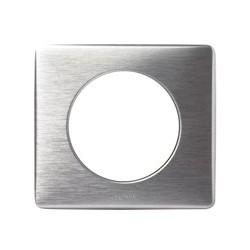 Legrand - Plaque 1 P Celiane Aluminium - Réf : 099865