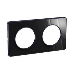 Schneider - Odace Touch, Plaque Anthracite 2 Postes Horiz. Ou Vert. Entraxe 71Mm - Réf : S540804