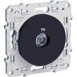 Schneider Odace - Prise Tv Anthracite - À Vis - Réf : S540445