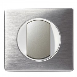 Legrand - Va et Vient à Couronne Lumineuse - Ensemble Aluminium complet - Réf : A023