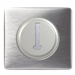 Legrand - Prise Téléphone en T 8 contacts - Ensemble Aluminium complet - Réf : A026