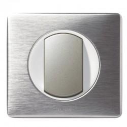 Legrand - Va et Vient à Couronne Lumineuse - Ensemble Aluminium complet à Griffes - Réf : A023G