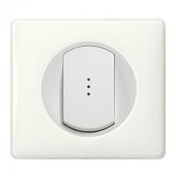 Legrand - Inter Simple Lum 10A Blanc - Réf : 099502