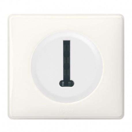 Legrand Céliane - Prise Téléphone en T 8 contacts - Ensemble Blanc complet - Réf : 099562