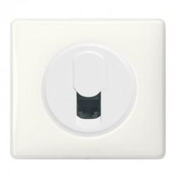 Legrand Céliane - Prise Rj45 Téléphone/Informatique - Ensemble Blanc complet à Griffes - Réf : 099564G