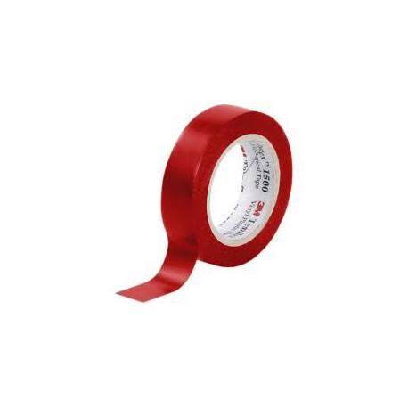 3M - Temflex 1500 Rouge 15mm x 10m - Réf: 80463