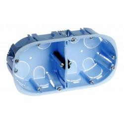 Eur'Ohm - Boîte d'encastrement - XL Pro - 2 postes - prof. 40mm - Réf : 52044