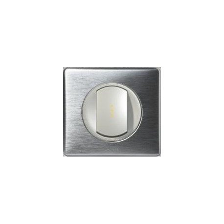 Legrand Céliane - Interrupteur Va et Vient à voyant témoin avec Neutre - Ensemble Aluminium complet - Réf: A019