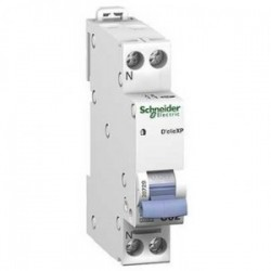 Schneider - Disjoncteur Mono D'clic - 25A - XP - Peignable - Courbe C - Réf : 20728