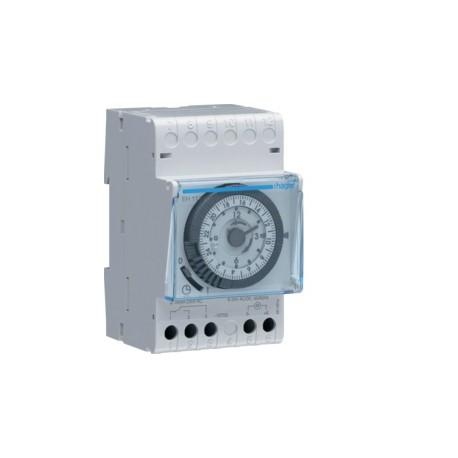 Hager - Interrupteur Horaire - 1 Voie 24h 220V + Réserve de Marche 200h - Réf: EH111