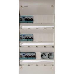 Hager - Tableau Pré-câblé - Gamma 13 modules 3 Rangées - Réf: HAG13301
