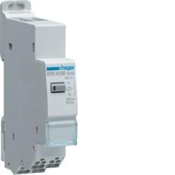 Hager - Télérupteur silencieux 1F 230V SanVis - Réf: EPS410B