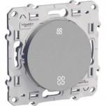 Schneider Odace - Interrupteur de VMC - Alu - 2 Vitesses - Réf : S530233