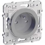 Schneider Odace - Prise de courant 2P+T - Alu - Bornes à Vis - Réf : S530039