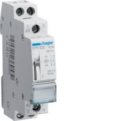 Hager - Télérupteur 2F 230V - Réf : EPN520