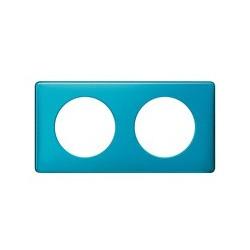 Legrand - Plaque Metal 2P Bleu Snake - Réf : 098876