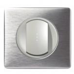 Legrand - Va et Vient simple lumineux 10A - Ensemble Aluminium complet à Griffes - Réf : A018G