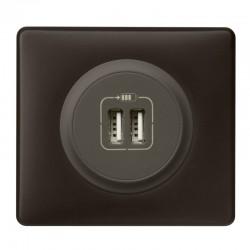 Legrand Céliane - Prise double chargeur USB - Ensemble Basalte complet à Griffes - Réf : B010G