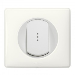 Legrand - Inter Simple Lum 10A Blanc - Réf : 099502