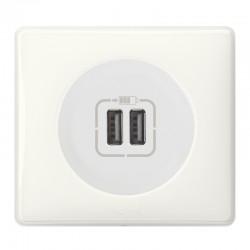 Legrand Céliane - Prise double chargeur USB - Ensemble Blanc complet à Griffes - Réf : FF010G