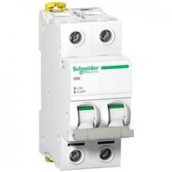 Schneider - Acti9, Isw Interrupteur-Sectionneur 2P 40A 415Vac - Réf : A9S65240
