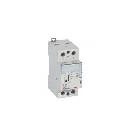 Legrand - Contacteur de puissance bobine 230 V~ - 2P - 250 V~ - 63 A - 2O - 2 modules - Réf : 412548