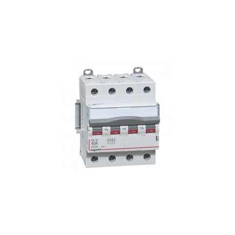 Legrand - Interrupteur-sectionneur DX³-IS - 4P 400 V~ - 40 A - 4 modules - Réf : 406480