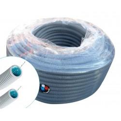 Courant - Gaine ICTA 3422 FTA - gris - fil tire-aiguille - Ø16mm - 100m - Réf : 10041140