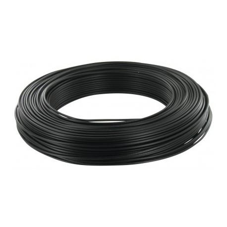 Fil H07 V-U (Rigide) 1,5 mm² - Couronne 100 m - Noir - Réf : 000605