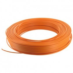 Fil H07 V-U 1,5 mm² - Couronne 100 m - Orange - Réf : 20035352