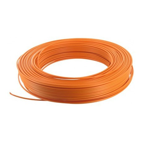 Fil H07 V-U 1,5 mm² - Couronne 100 m - Orange - Réf : 000705